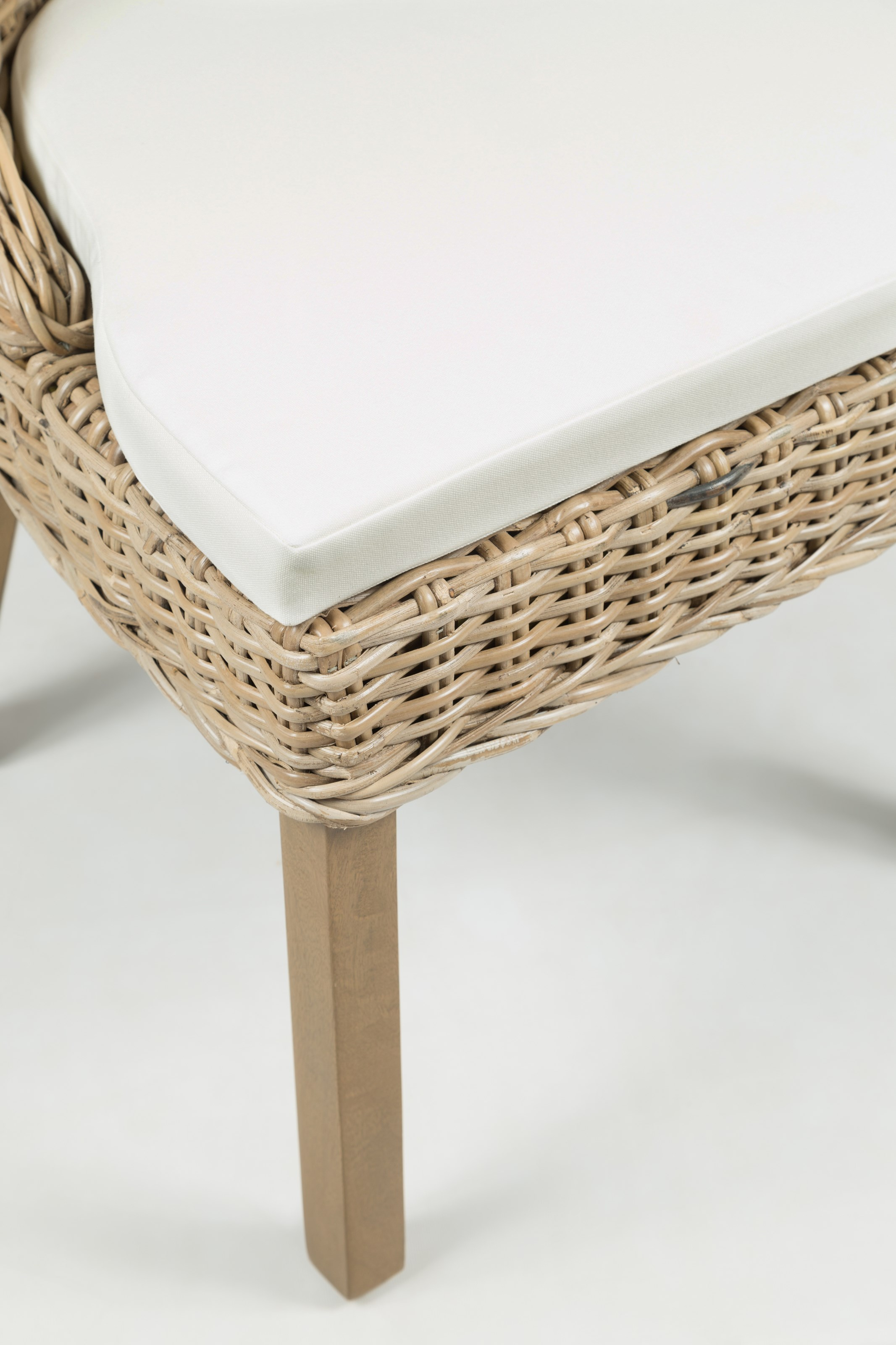 transitional rattan dining chair with cushion by jofran wolf and