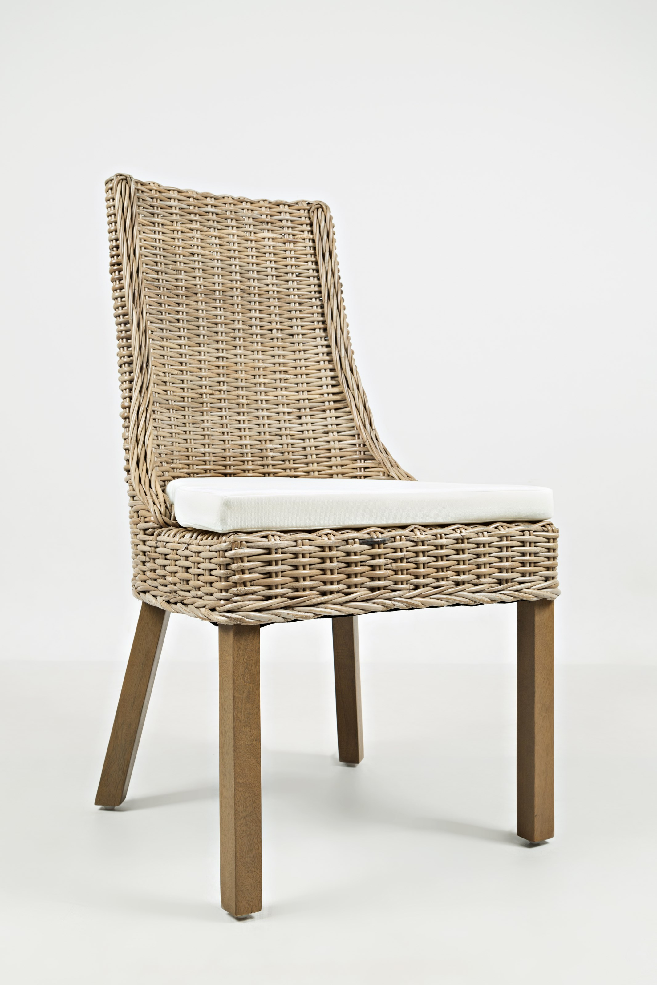 Transitional Rattan Dining Chair with Cushion by Jofran