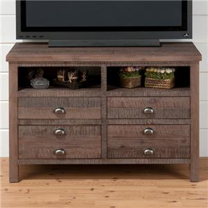 "Jofran Falmouth Weathered Grey 42"" Media Unit with Storage"