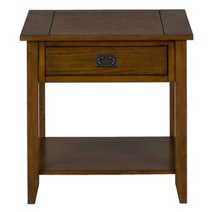 Jofran Mission Oak End Table