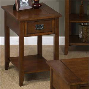Jofran Mission Oak Chairside Table