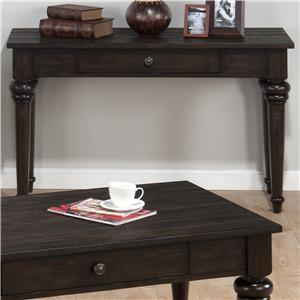 Jofran Savannah Oak Sofa Table with Drawer