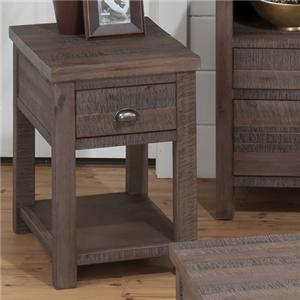 Jofran Falmouth Weathered Grey Chairside Table