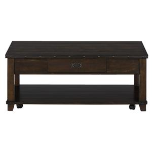 Jofran Cassidy Brown Plank Top Cocktail Table