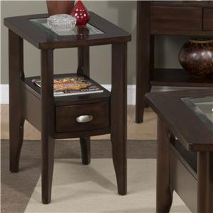 Jofran Montego Merlot Chairside Table