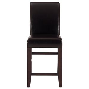 Jofran Carlsbad Cherry Bonded Leather Stool