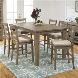 Jofran Slater Mill Pine Counter Height Table and Chair Set