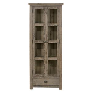 Jofran Slater Mill Pine Display Cupboard