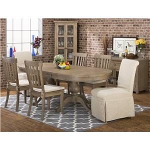 Charmant Casual Oval Table Set