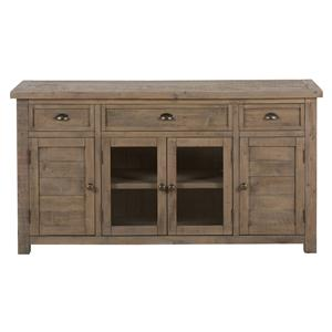 "Jofran Slater Mill Pine 60"" Reclaimed Wood Media Unit"