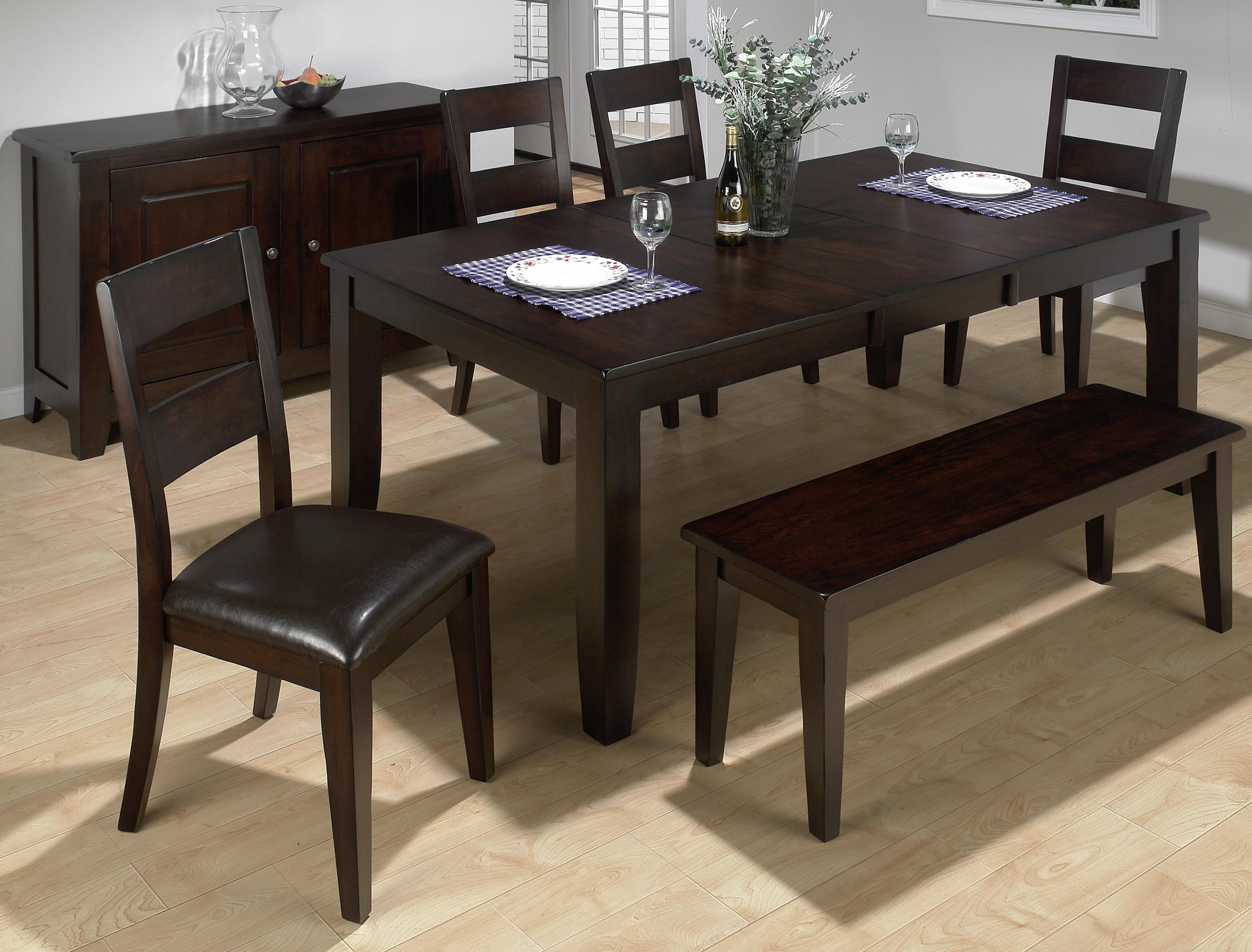 High Quality Conventional Height Butterfly Leaf Dining Table With Hand Hewn Corners,  Burnished Edges And Rugged Scale