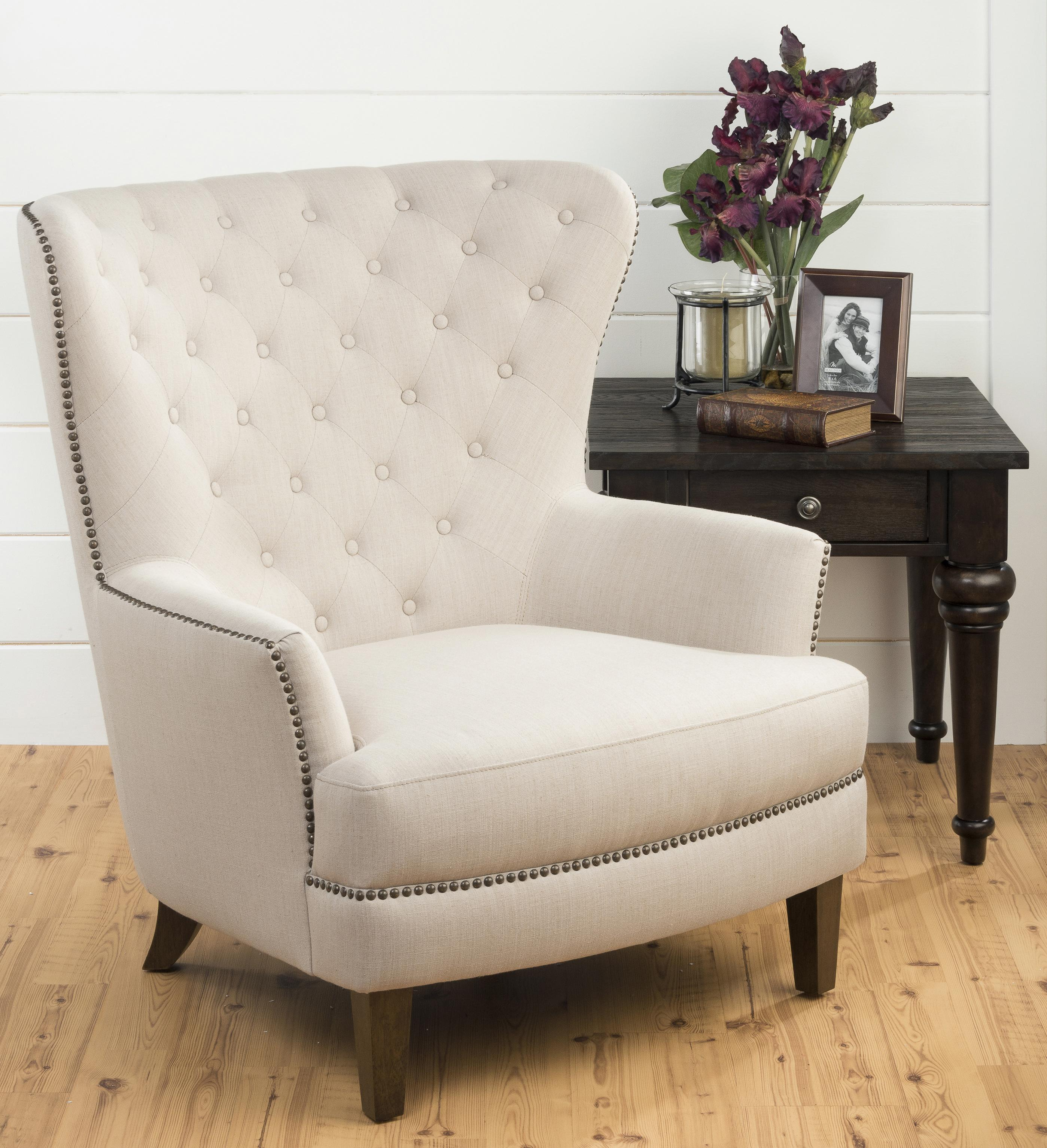 conner chair with tufted wing back by jofran wolf and gardiner