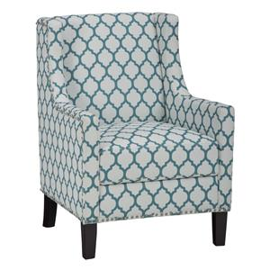 Jofran Accent Chairs Jeanie Club Chair in Aqua Blue