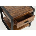 Jofran Loftworks End Table with Drawer - Drawer Detail Shot