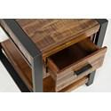 Jofran Loftworks Chairside Table with Drawer - Drawer Detail Shot