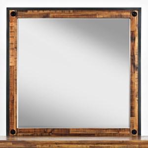 Mirror · Distressed Wood Finish