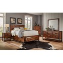 Jofran Loftworks King Size Bed with 2 Storage Drawers