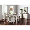 Jofran Madison County High/Low Round Dining Table