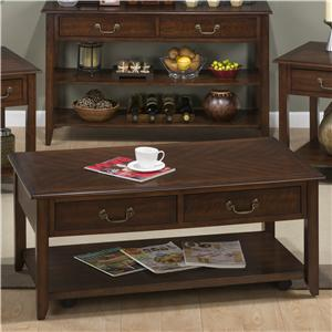 Jofran Medium Cherry Castered Cocktail Table