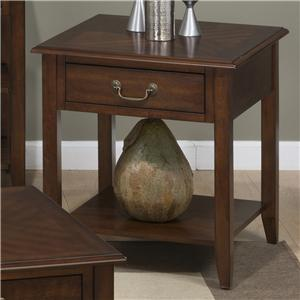 Jofran Medium Cherry End Table