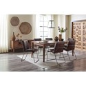 Jofran Modern Living 8 Drawer Dining Table