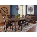 Jofran Painted Canyon Dining Table