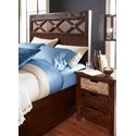 Jofran Painted Canyon King Size Headboard & Footboard Storage Bed - Bed Shown May Not Represent Size Indicated