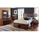 Jofran Painted Canyon Queen Size Headboard & Footboard Storage Bed - Bed Shown May Not Represent Size Indicated