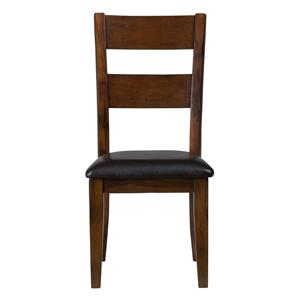 Jofran Plantation Ladderback Upholstered Side Chair