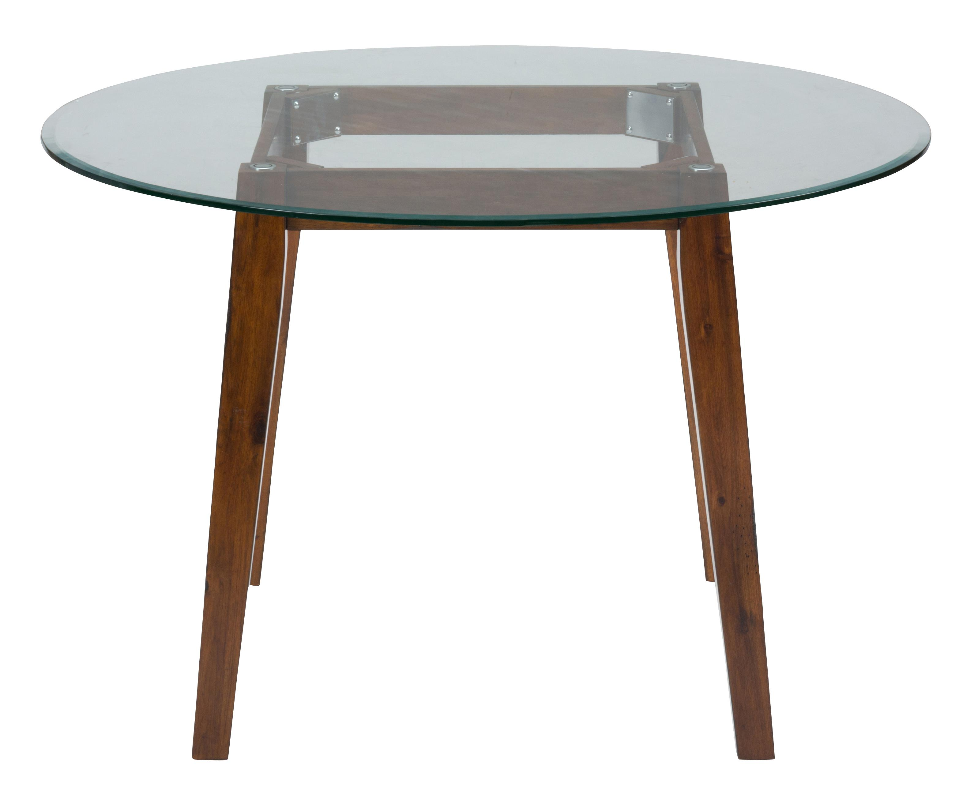 """48"""" Round Dining Height Table With Glass Top By Jofran"""