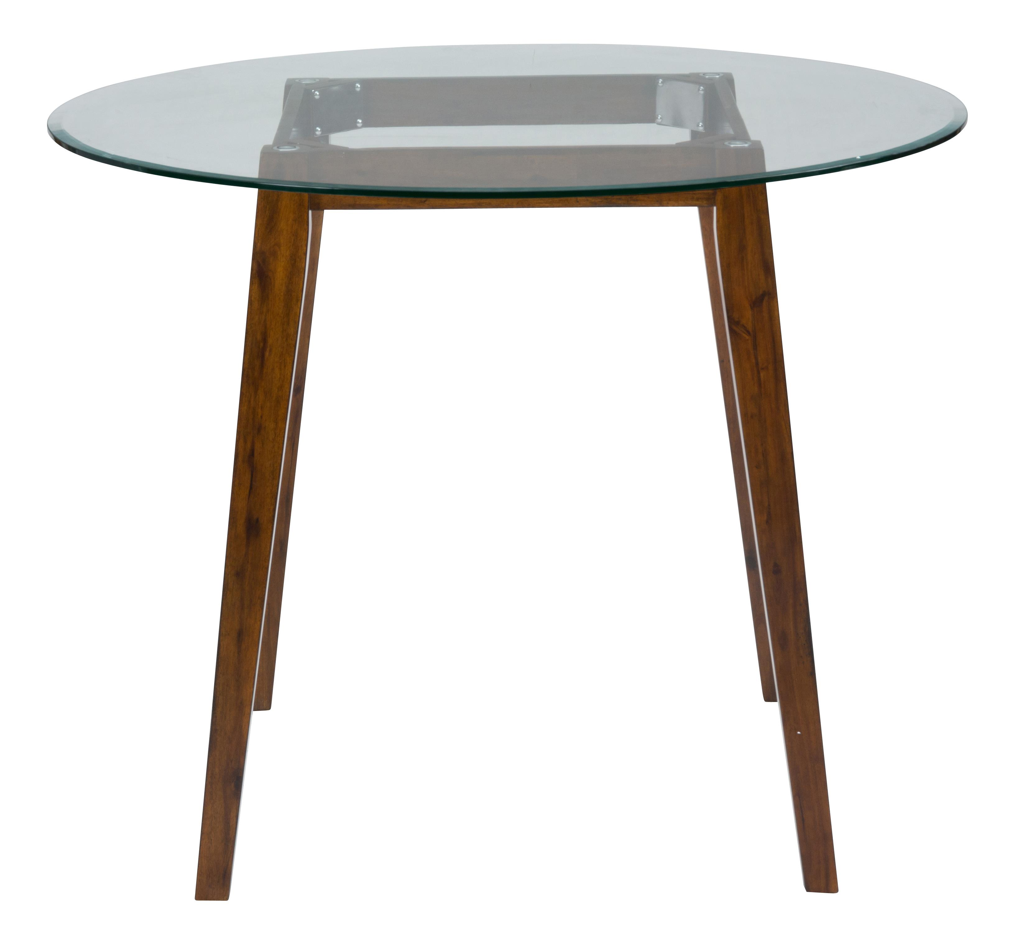 """Round Counter Top: 48"""" Round Counter Height Table With Glass Top By Jofran"""