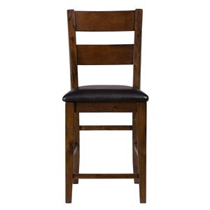 Jofran Plantation Ladderback Upholstered Bar Stool