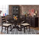 Jofran Prospect Creek Pine Round to Oval Pedestal Dining Table