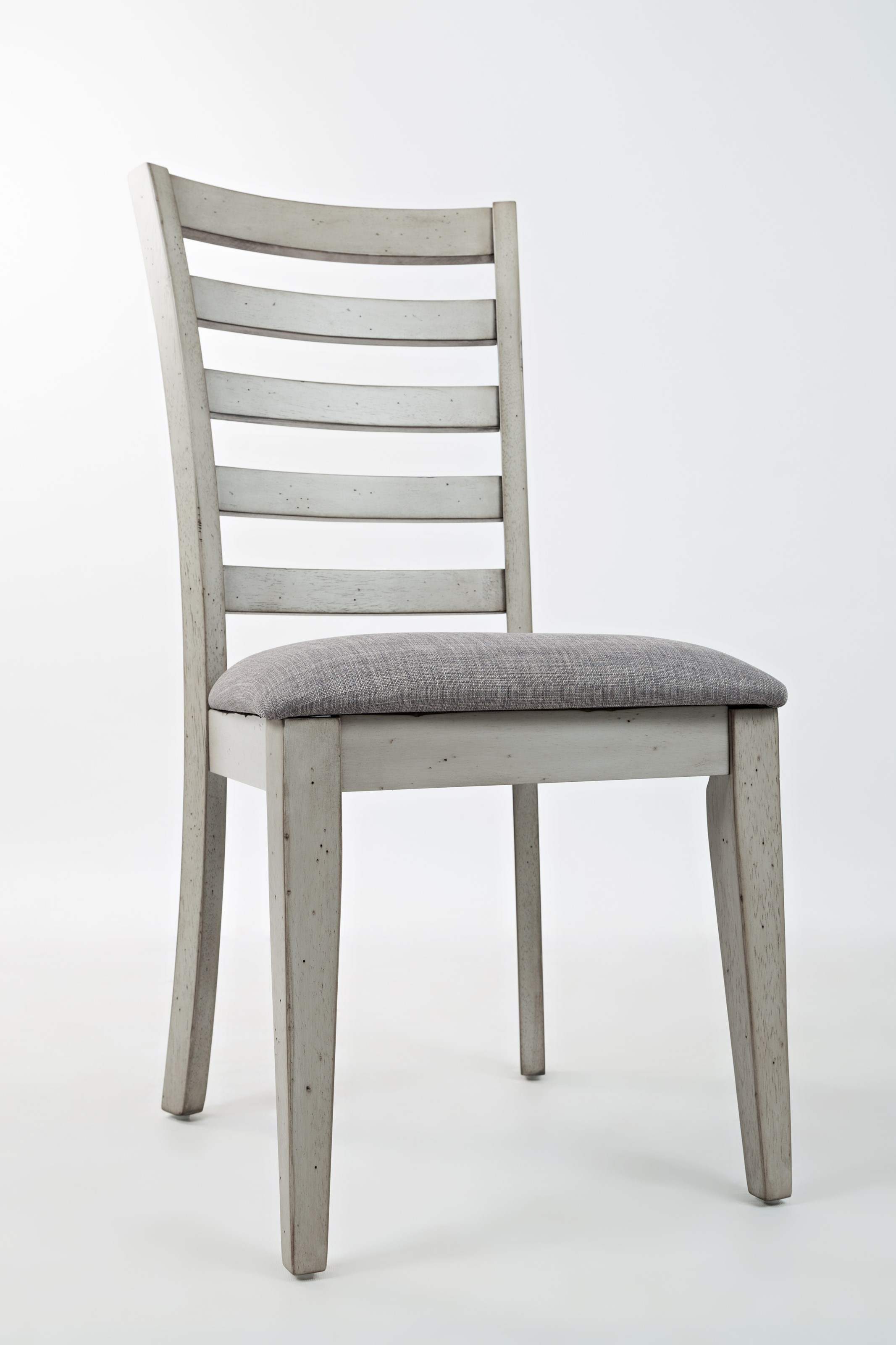 ladder back dining chair with upholstered seat by jofran wolf