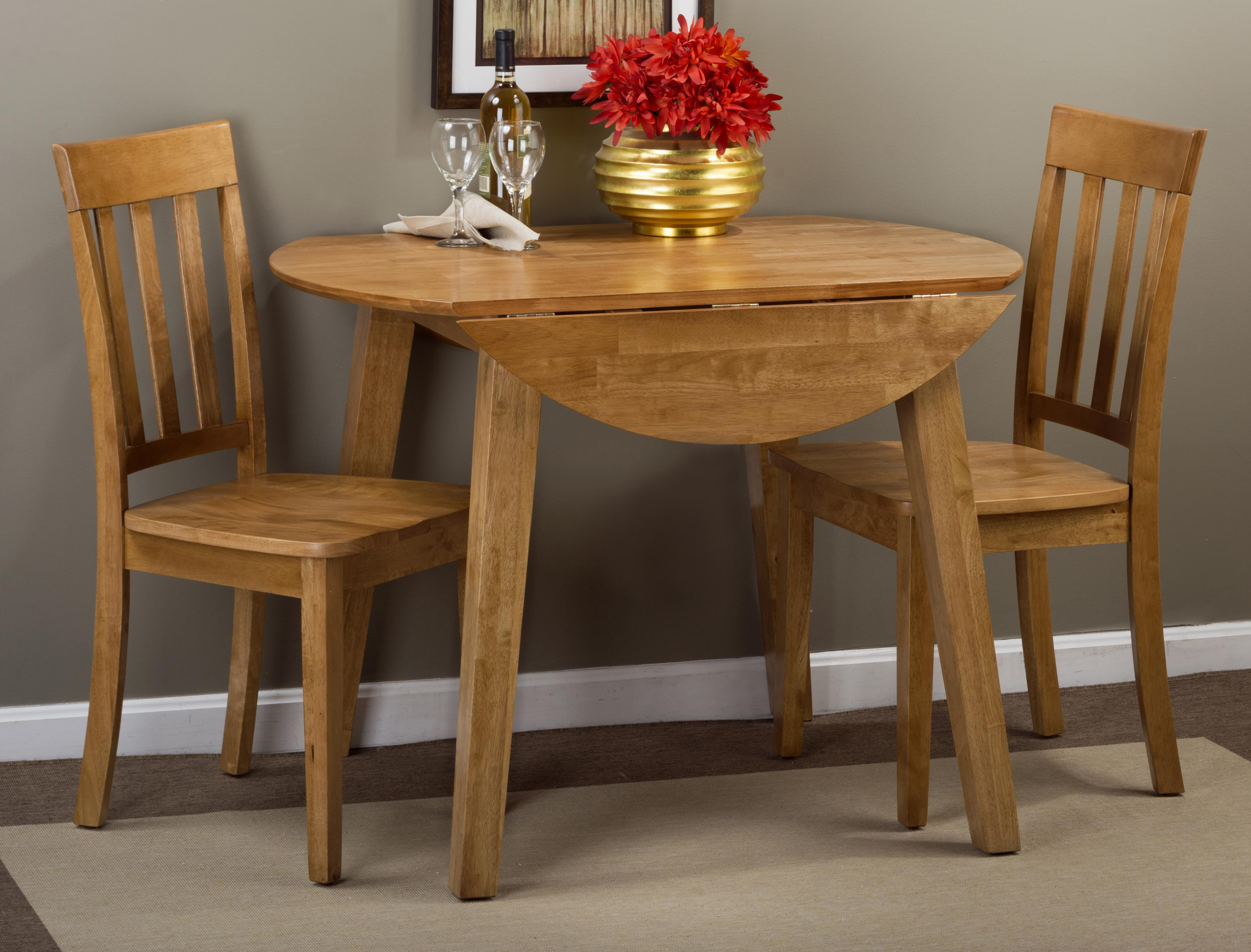 Drop Leaf Table Dining: Round Drop Leaf Table That Seats 4 For Dining Areas By