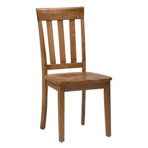 Jofran 3x3x3: Honey Slat Back Side Chair