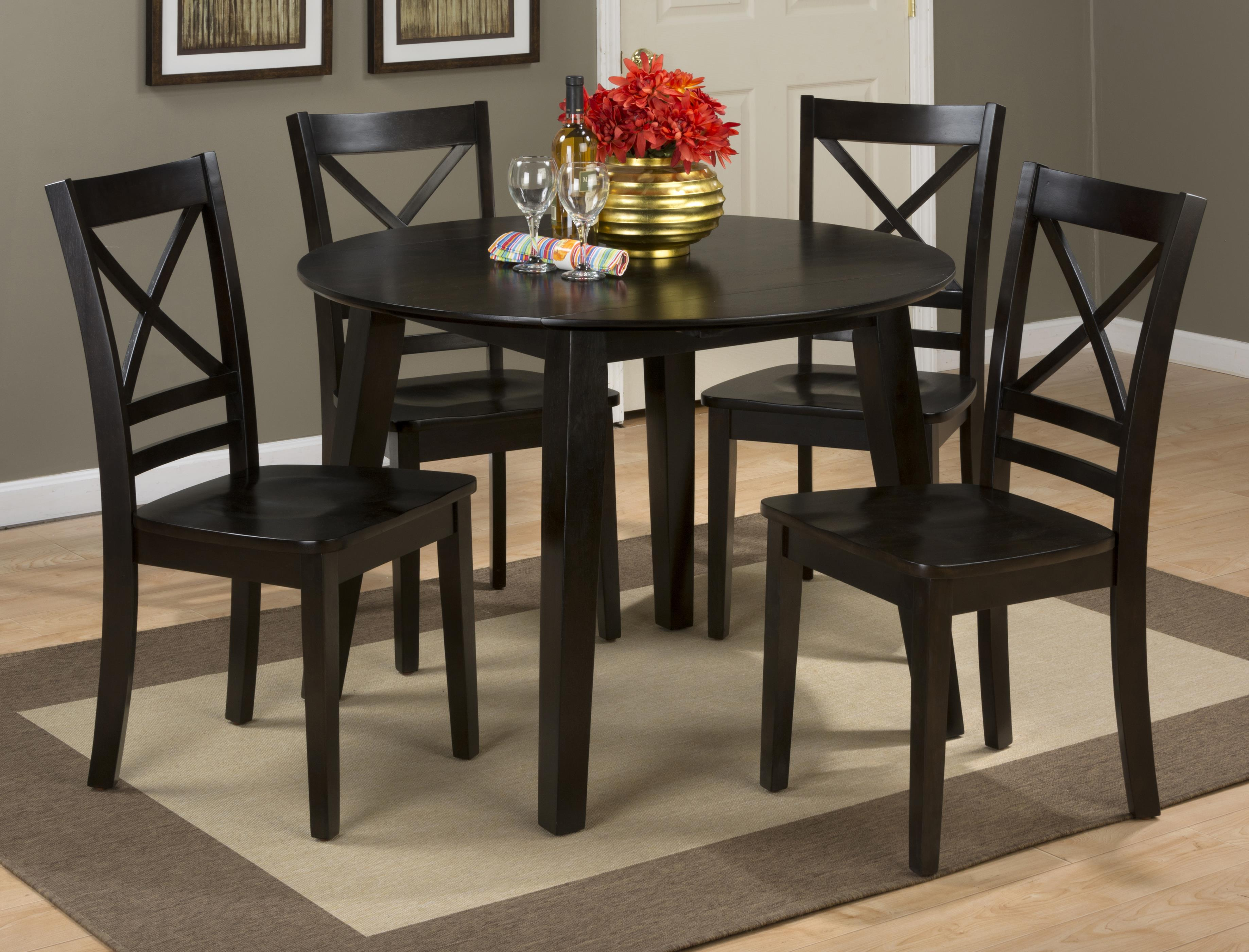 Round Drop Leaf Table That Seats 4 For Dining Areas By Jofran Wolf And Gardiner Wolf Furniture