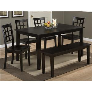 Jofran Simplicity Table and 4 side chairs