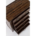 Jofran Sonoma Creek Five Drawer Chest - Table Top and Drawers Detail Shot