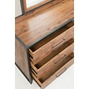 Jofran Studio 16 Dressser and Mirror - Drawer Detail Shot