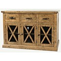 Jofran Telluride  3 Drawer Sideboard