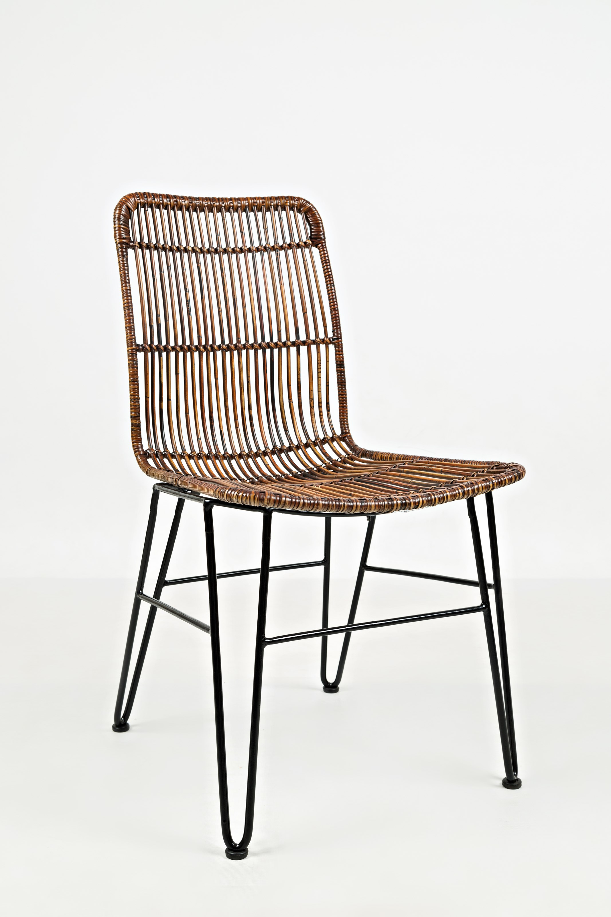 Wire And Rattan Dining Chair By Jofran Wolf And Gardiner