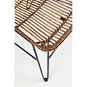 Jofran Urban Dweller Wire and Rattan Dining Chair - Seat Detail Shot