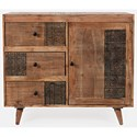 3-Drawer 1-Door Accent Chest