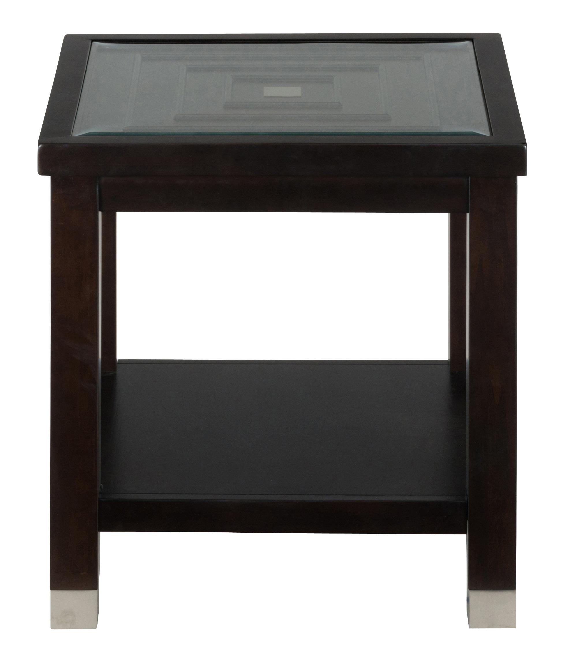 End Table With Glass Top By Jofran Wolf And Gardiner Wolf Furniture
