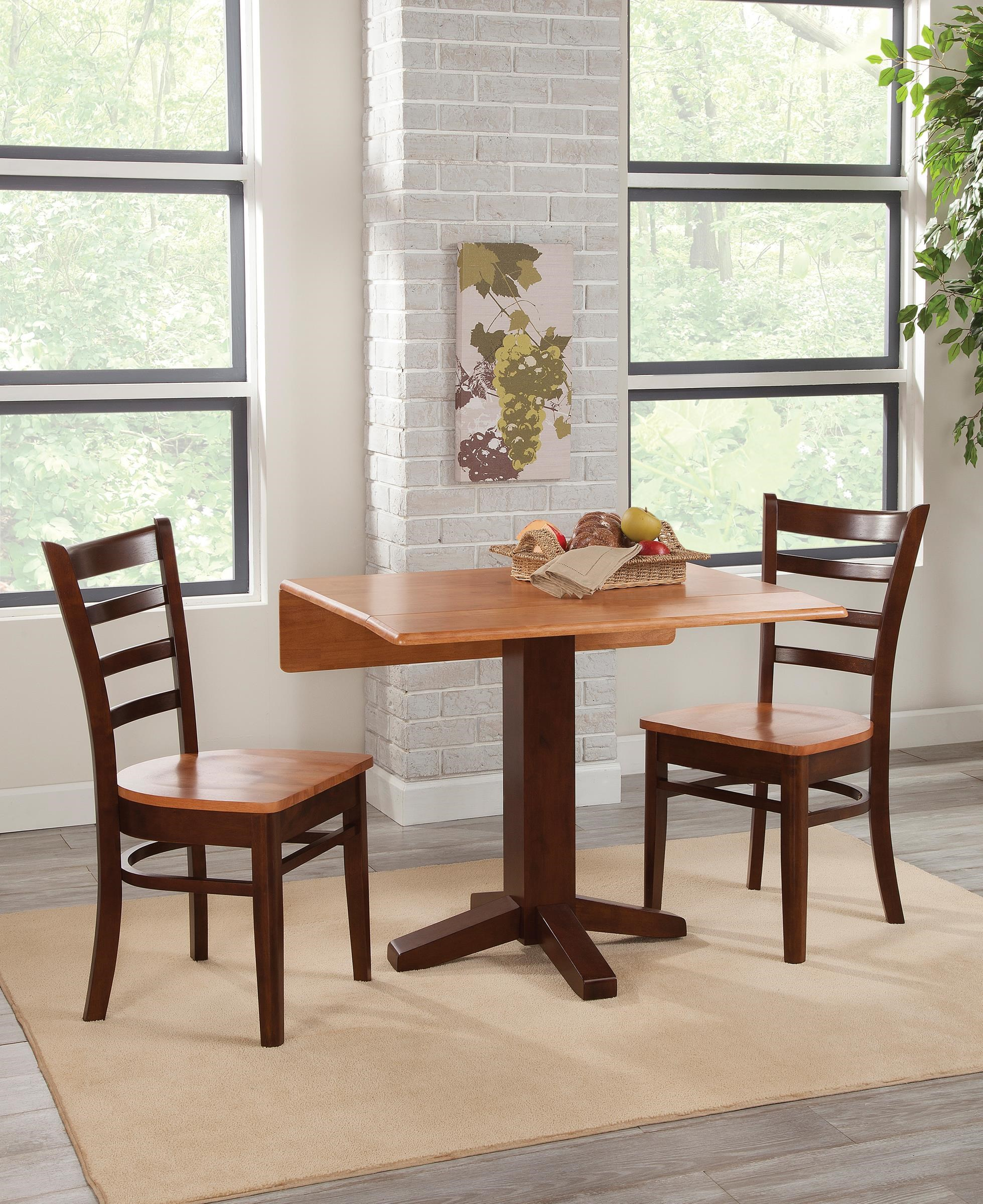 Two Chair Dining Table Set: 3 Pc Dining Set--Table And 2 Side Chairs By John Thomas