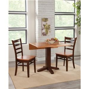 3 pc Dining Set--Table and 2 Side Chairs