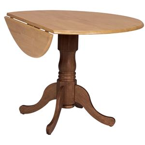 "John Thomas Dining Essentials 42"" Round Drop Leaf Pedestal Table"
