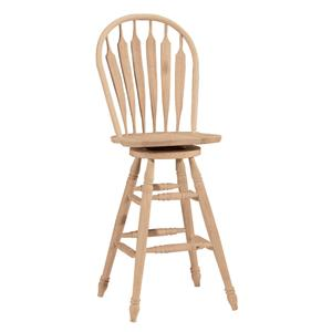 "John Thomas SELECT Dining 30"" Steambent Windsor Stool with Swivel"