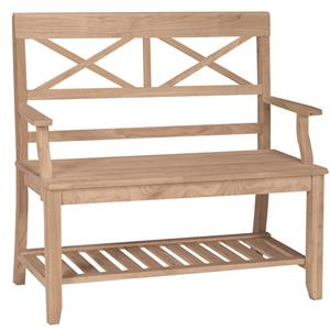 John Thomas SELECT Dining Double X Back Bench